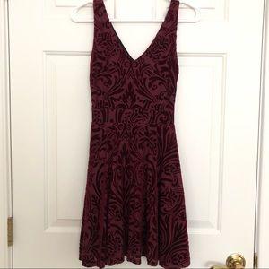 Maroon Design Lab Velvet Dress, Size Small